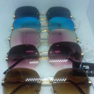 Gafas Gucci biselada pinta de diamante